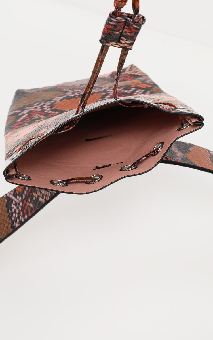Multi Snake Belted Pouch Bag  3