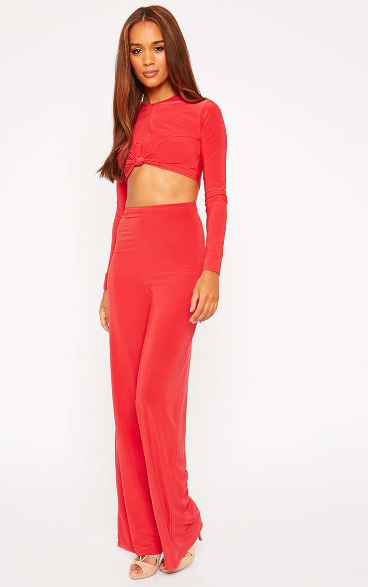 Zafia Red Knot Front Crop Top 3
