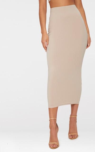 Stone Second Skin Slinky Longline Midaxi Skirt