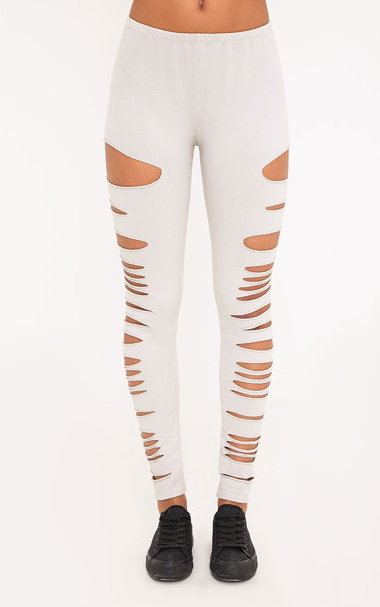Carlie Stone Distressed Leggings 2