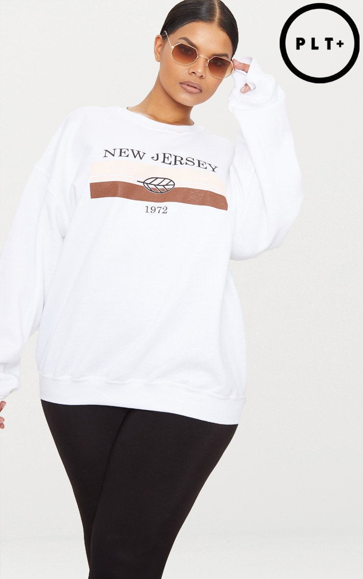 Plus White New Jersey Sweater 1