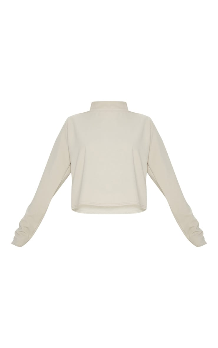 Stone High Neck Long Sleeve Sweater 4