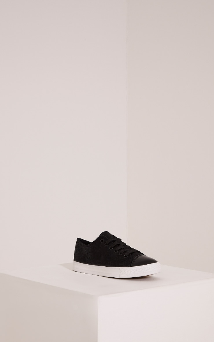 Connie Black Causual Lace Up Trainers 3
