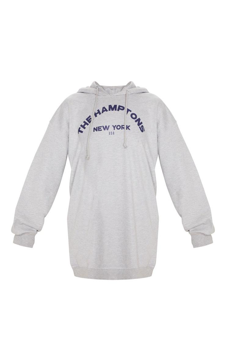 Grey The Hamptons Oversized Hoodie Dress 3