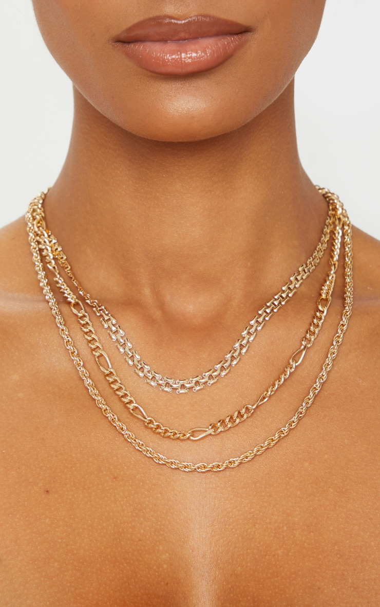 Gold Multi Chain Layered Necklace 2