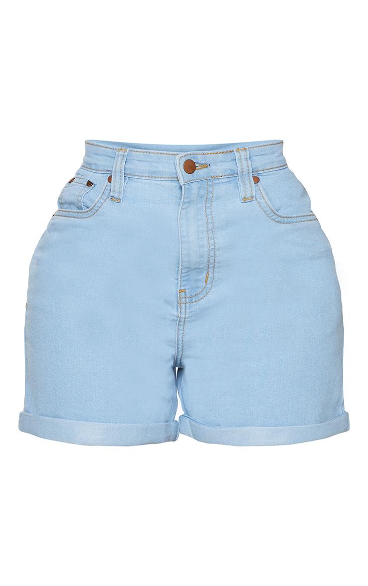 Shape Light Wash High Waist Fitted Denim Shorts 6