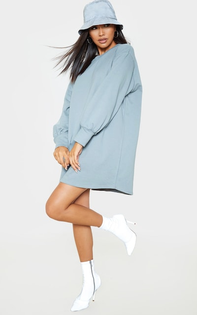 Lead Grey Oversized Sweater Dress