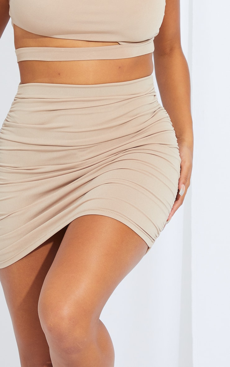 Shape Stone Slinky Ruched Side Detail Bodycon Skirt 5