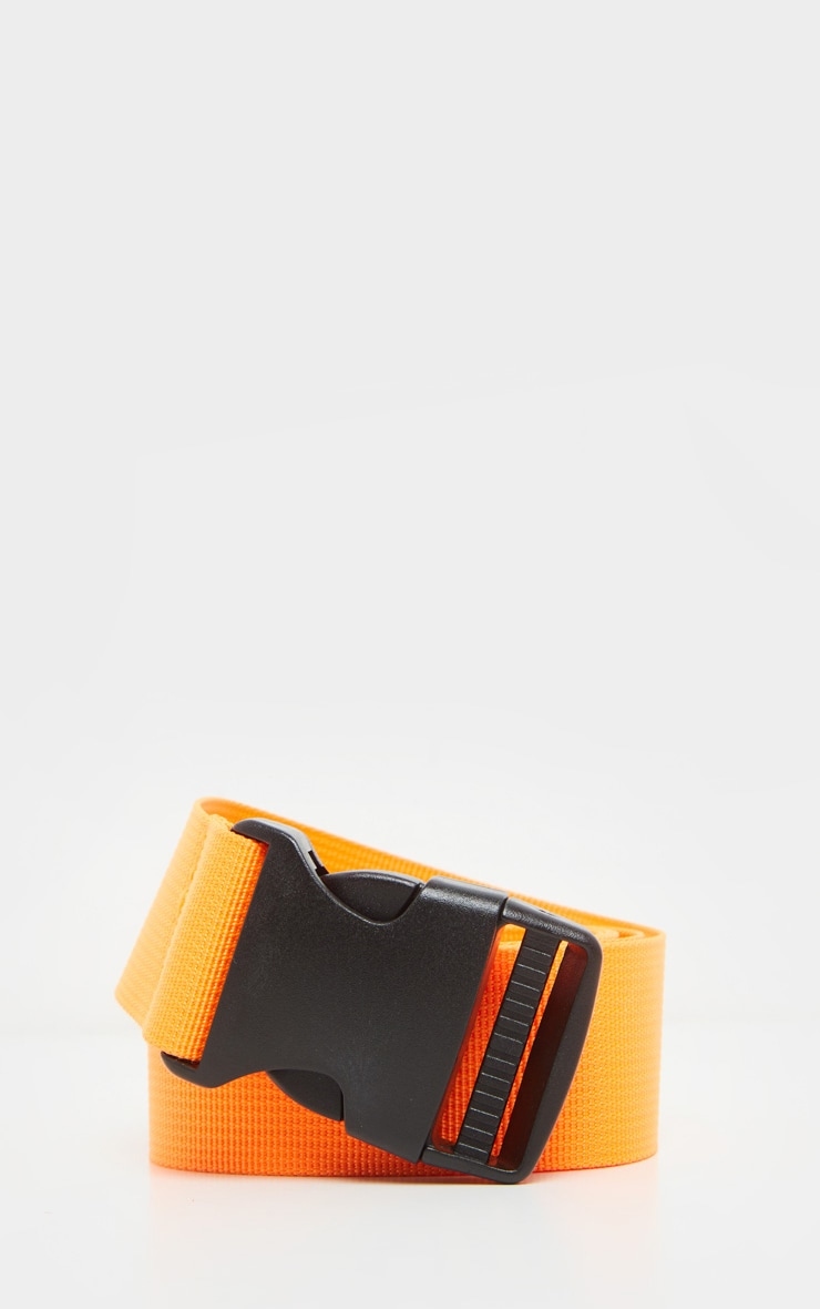 Ceinture sangle orange fluo 2