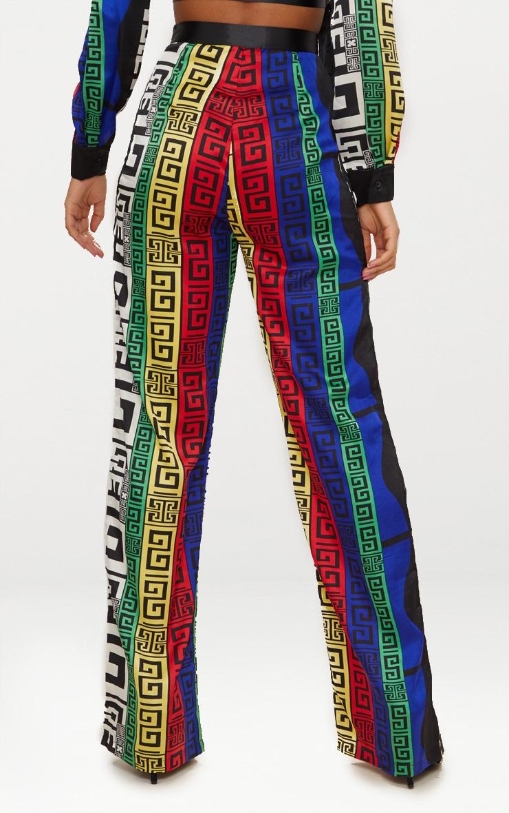 Multi Satin Printed Wide Leg Pants 4