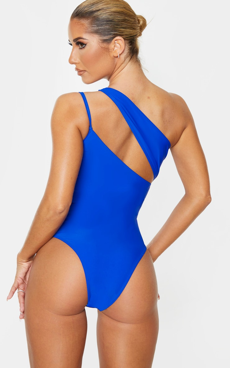 Cobalt Asymmetric Double Strap Swimsuit 2