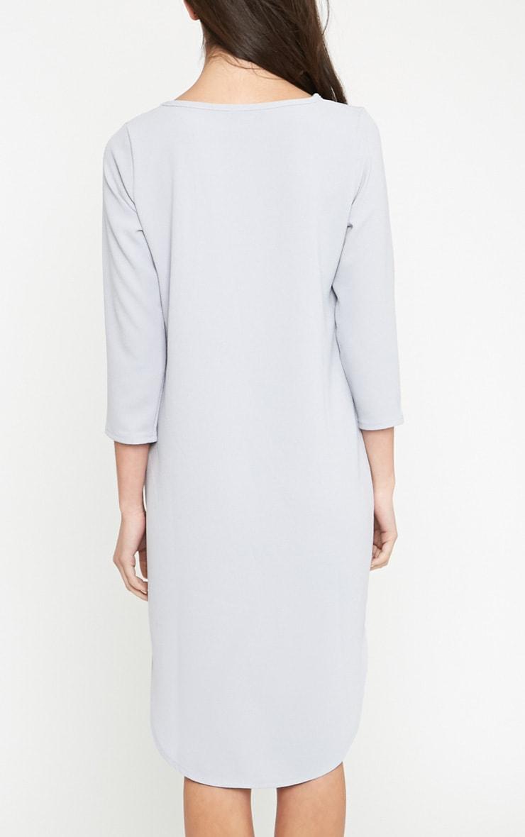 Camilla Grey Crepe Shift Dress 2