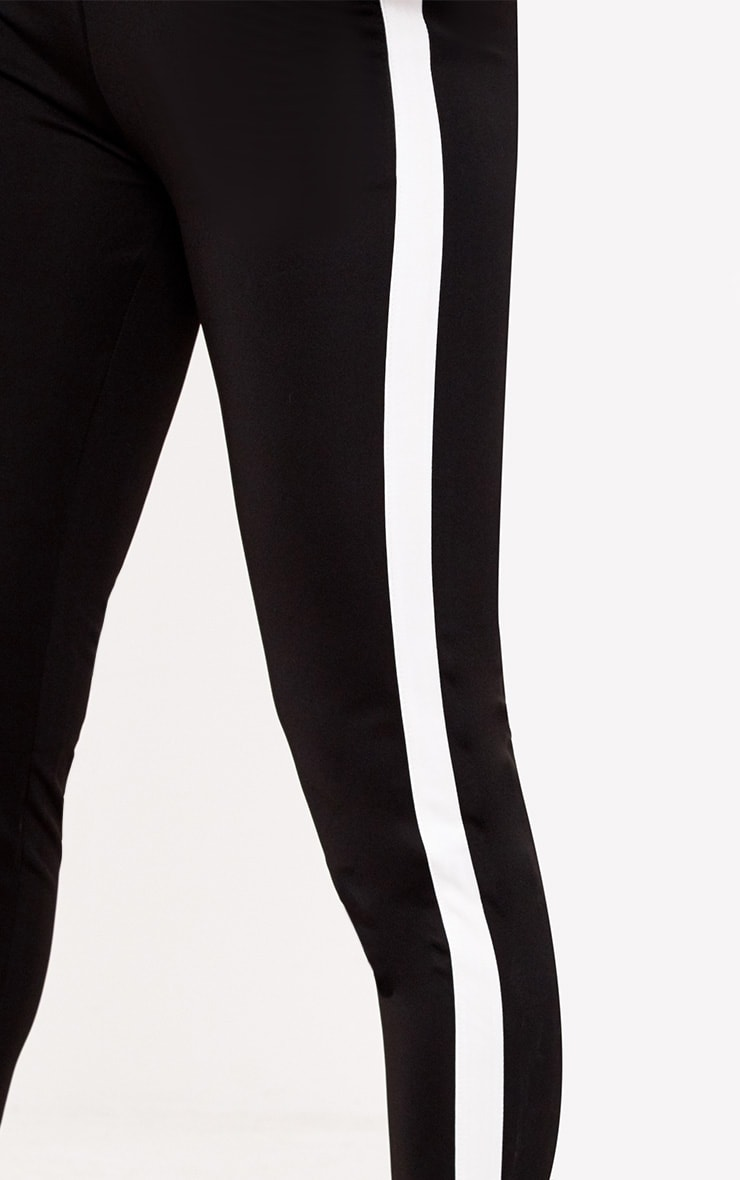 Black Side Stripe Pants 5