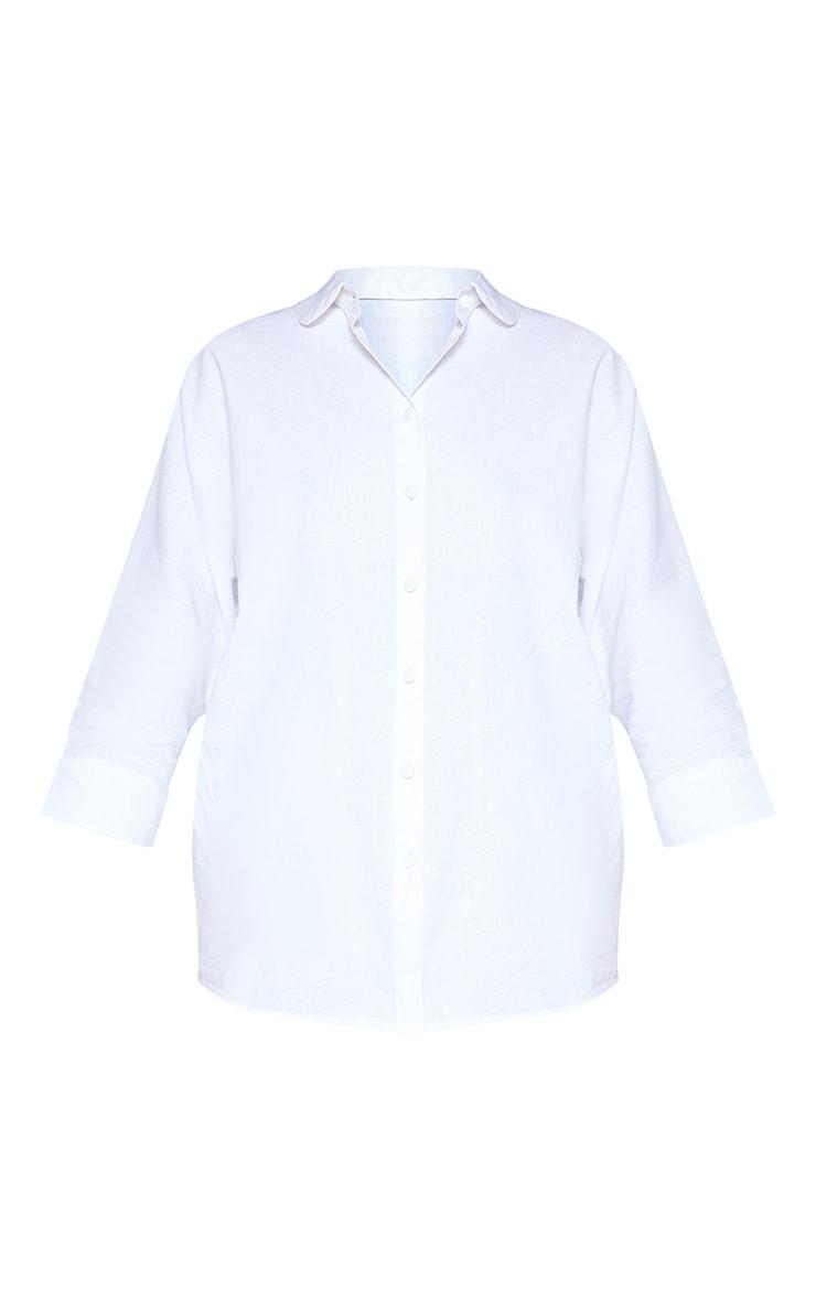 White Linen Oversized Shirt 4