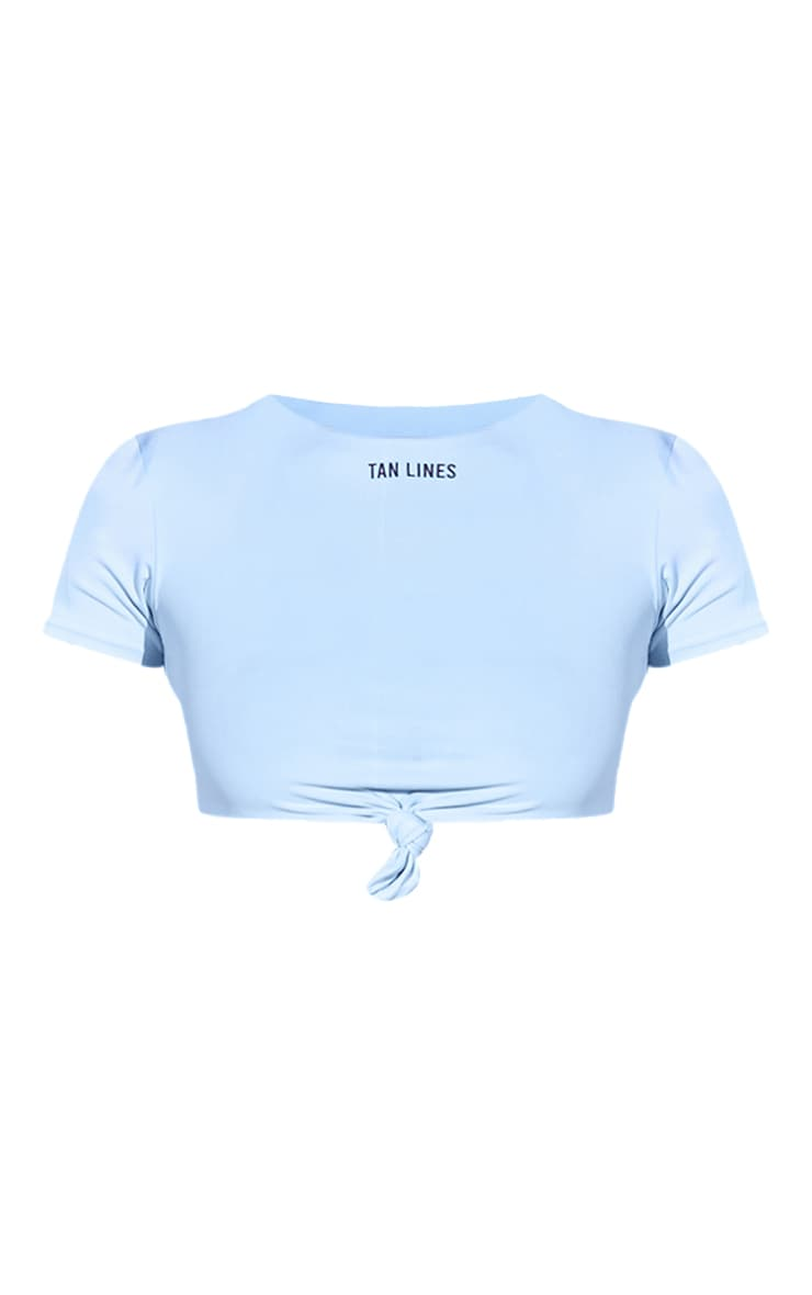 Blue Tan Lines Slogan T-Shirt Bikini Top 5