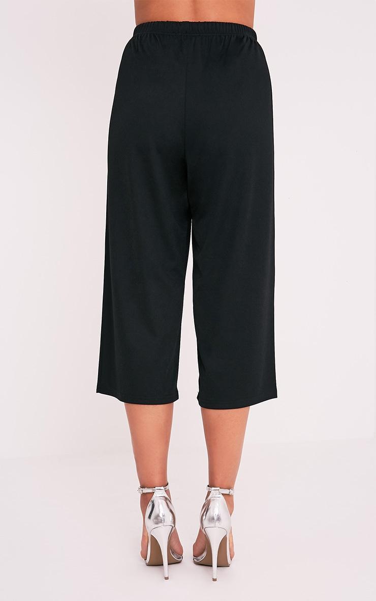 Kerena jupe-culotte noire en crêpe 2