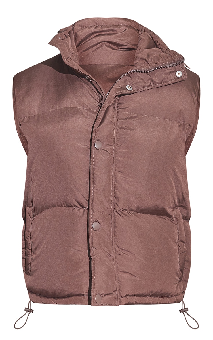 RENEW Chocolate Recycled Toggle Detail Gilet 5