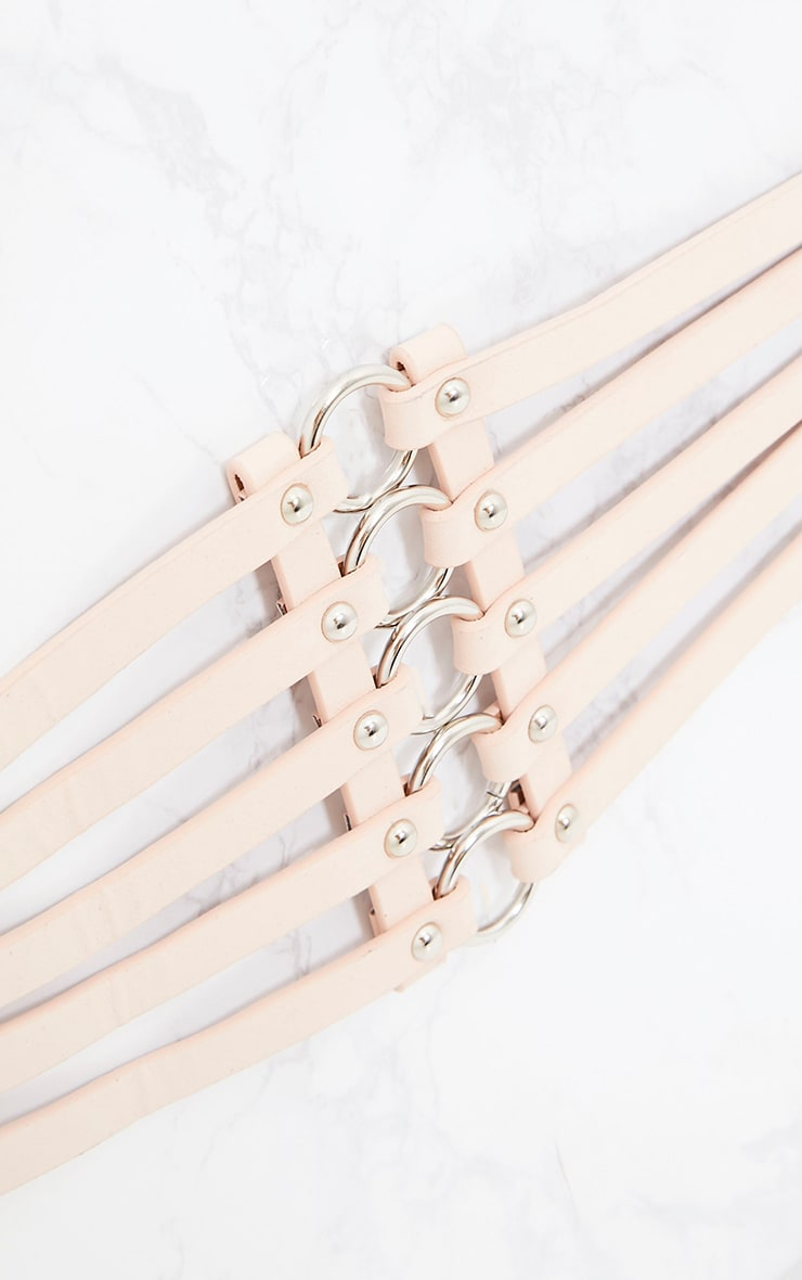 Nude Multi Ring Strappped Belt  5