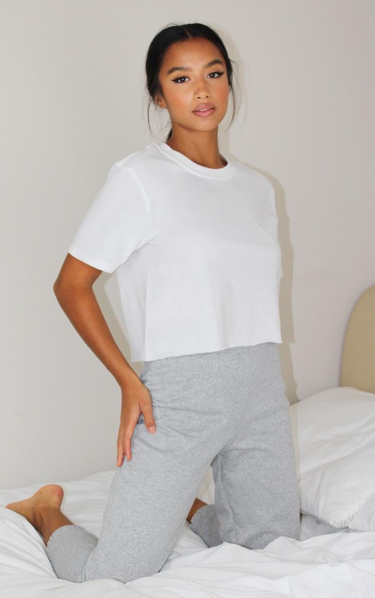 Petite White Crop T -Shirt 1
