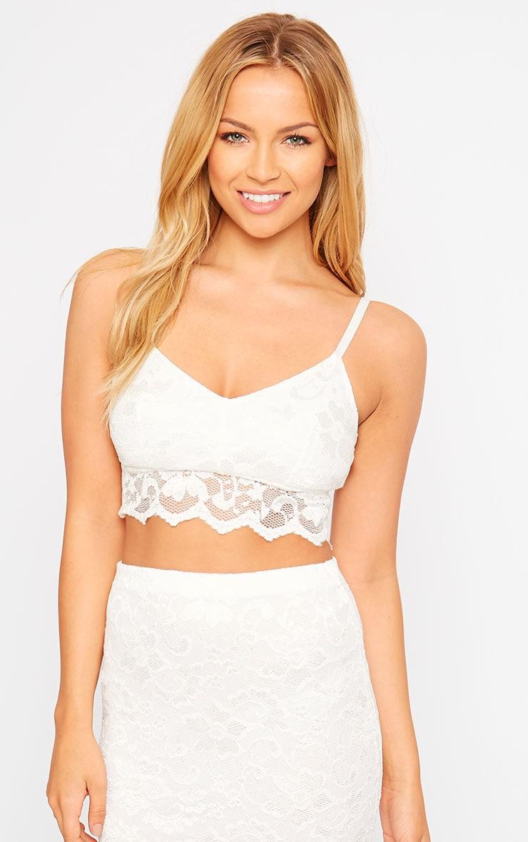 Corinna White Lace Bralet 1