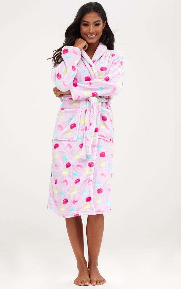 Lilac Macaroon Dressing Gown 1