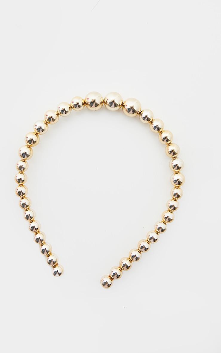 Gold Pearl Headband 2