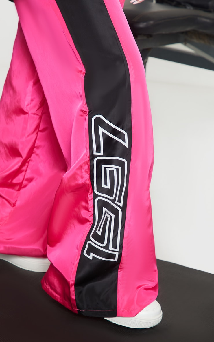 Petite Pink Nylon 1997 Straight Leg Sports Joggers 4