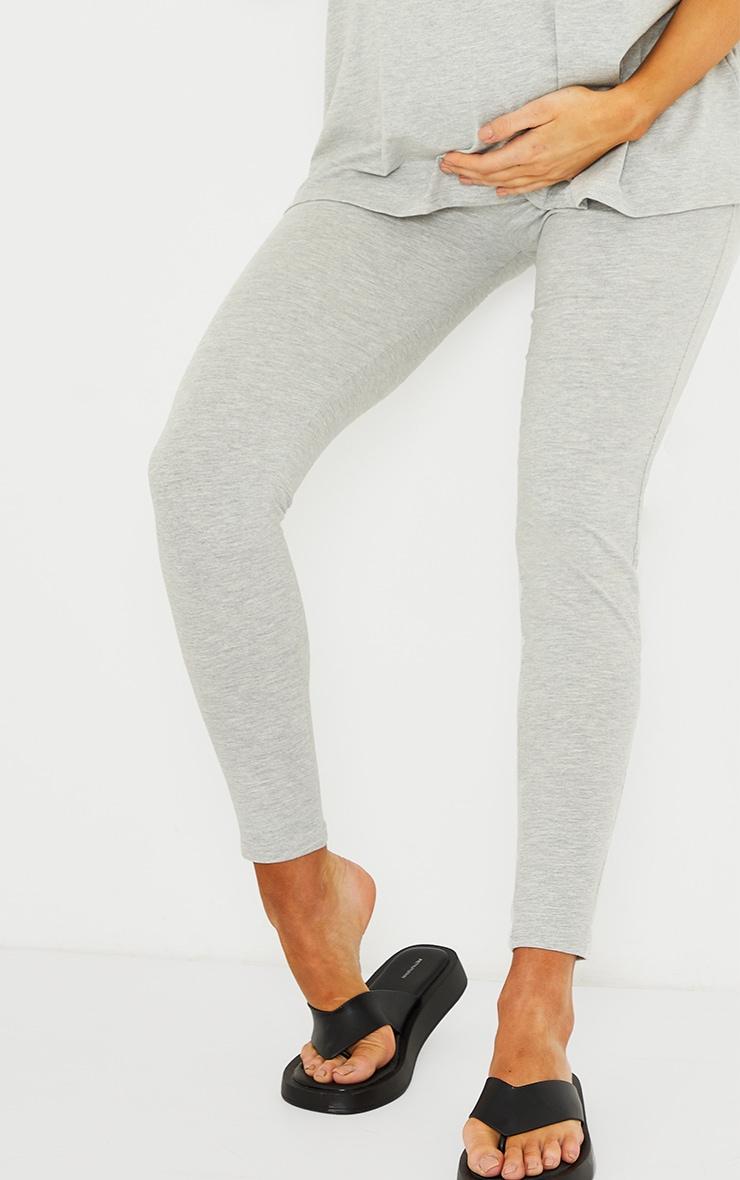 Maternity Grey Bump Support Leggings 4