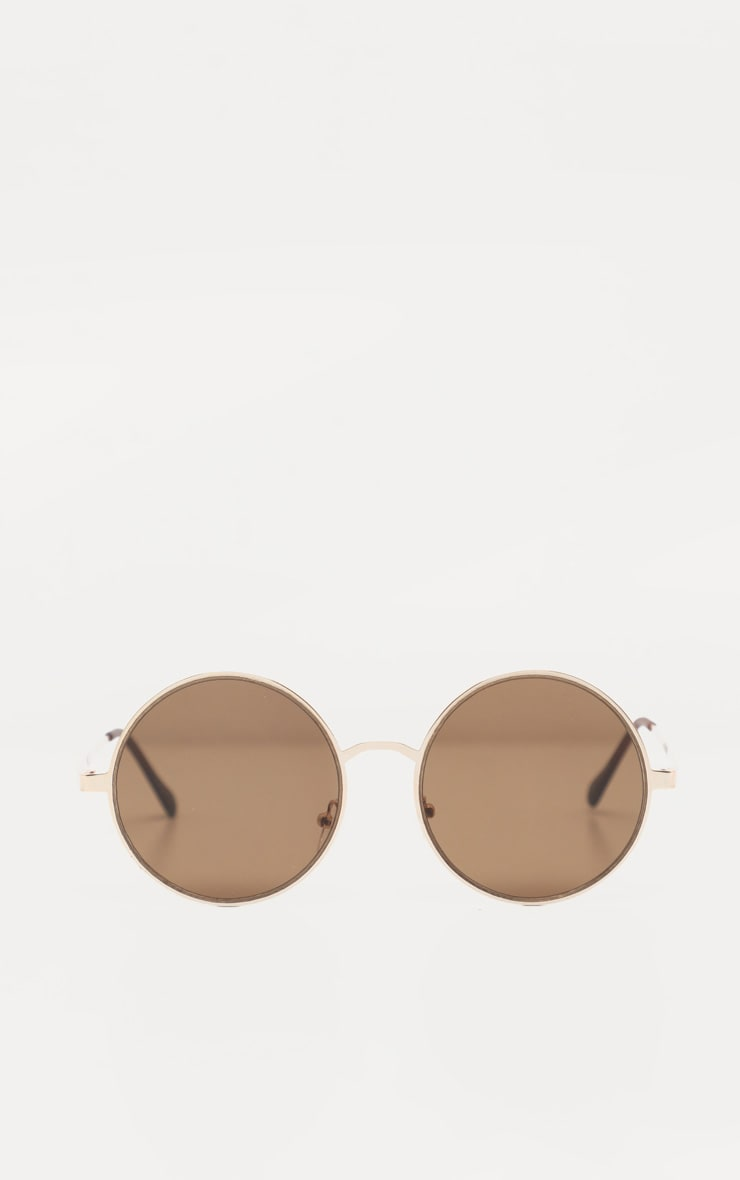 Gold Rounded Sunglasses 3