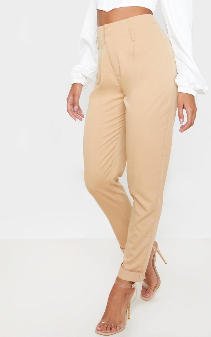 Camel Cuff Hem Trousers  2