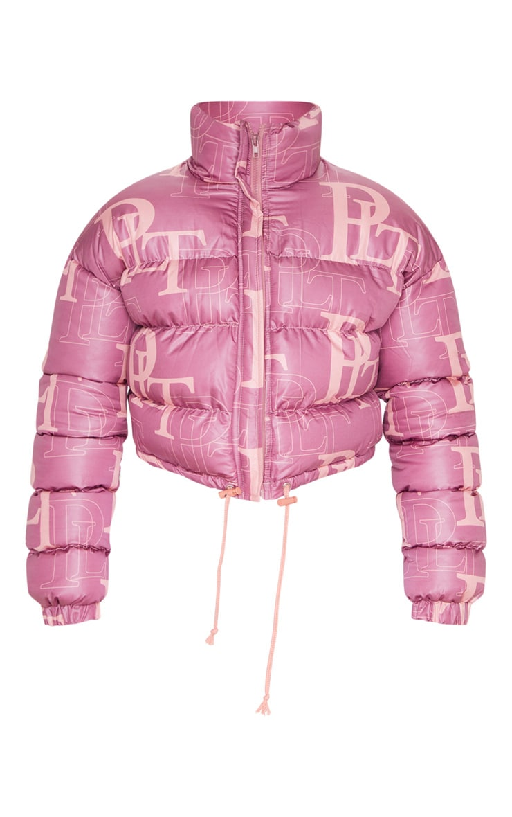 PRETTYLITTLETHING Pink Crop Puffer Jacket 3