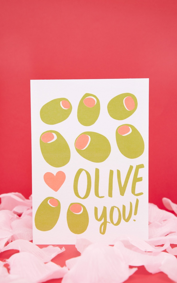 Ohh DEER Olive You Valentines Card  1