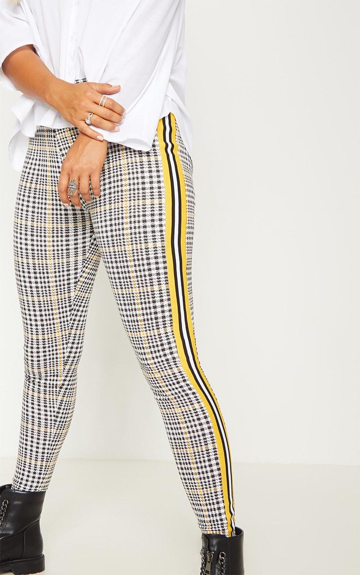 Mustard Check Sport Stripe Legging 4