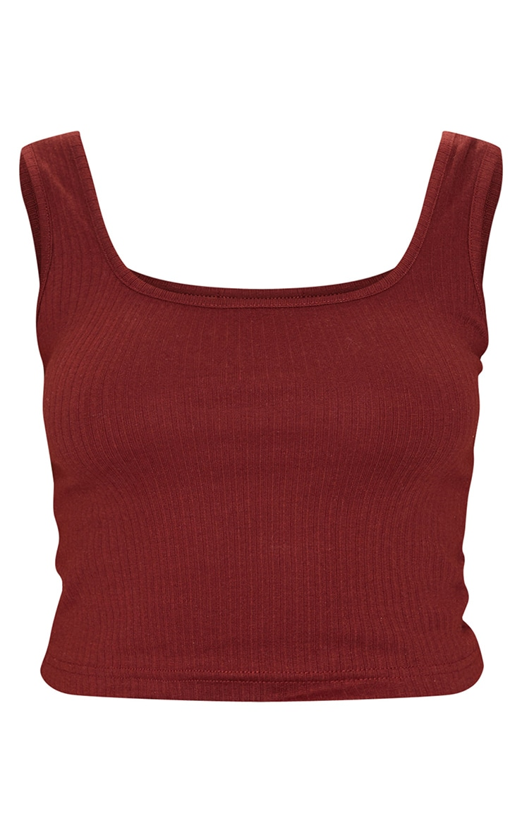 Chocolate Structured Rib Racer Vest 5