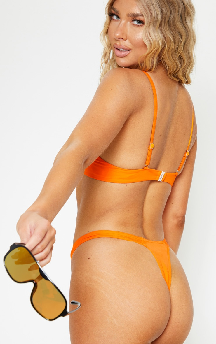 Orange Mix & Match Underwired Bikini Top 2