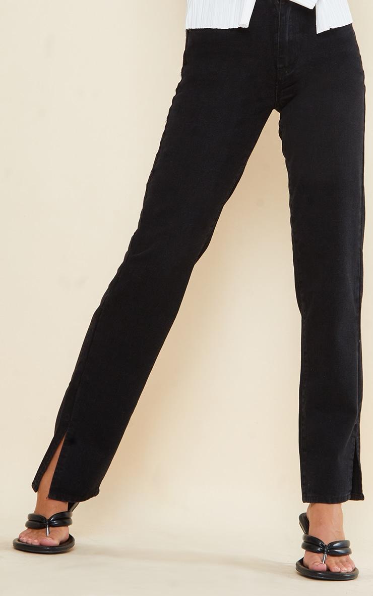 Tall Black Split Hem Jeans 4