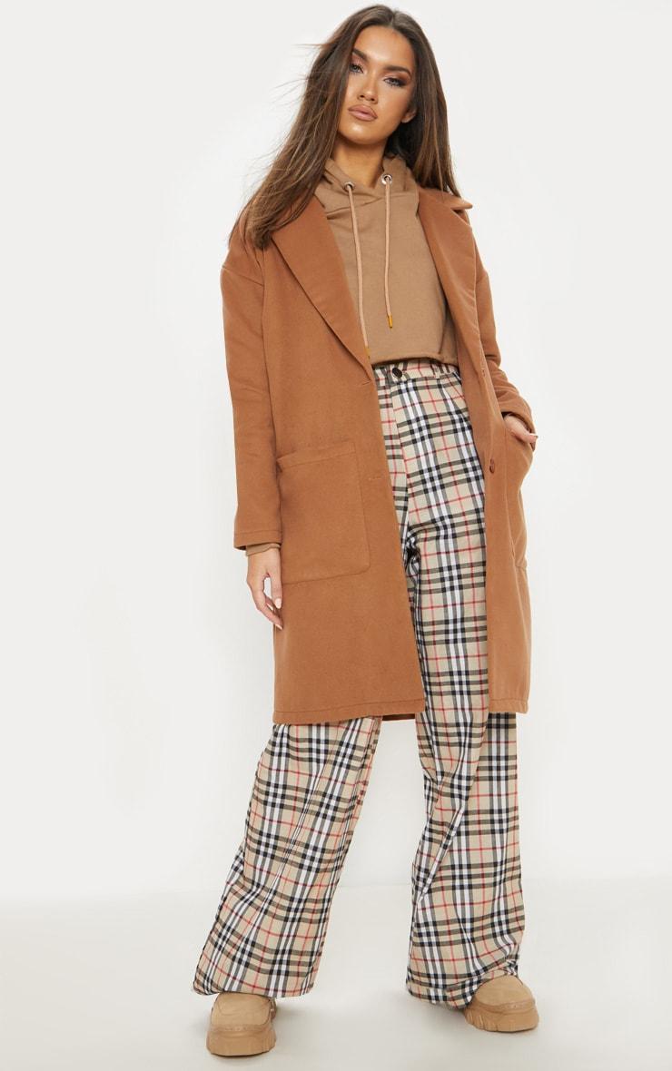 Camel Midi Coat