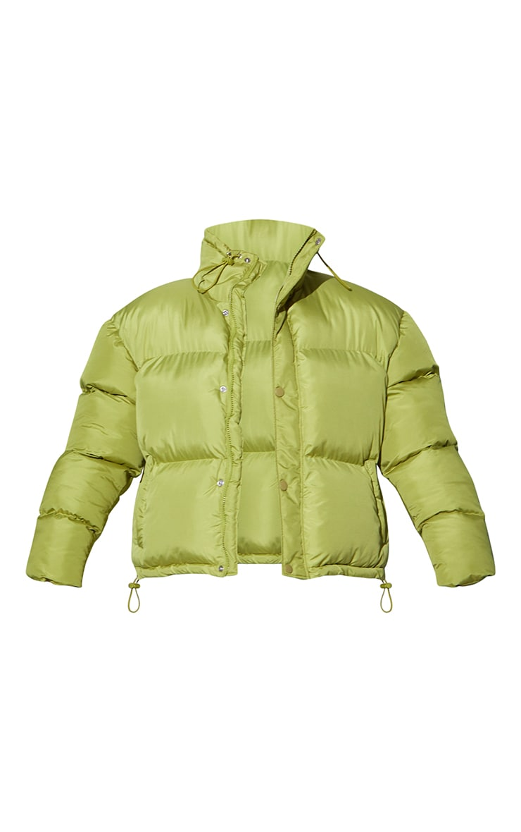 RENEW Olive Toggle Detail Puffer Jacket 5