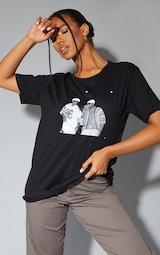 Black Biggie 96 Print Oversized T Shirt 1