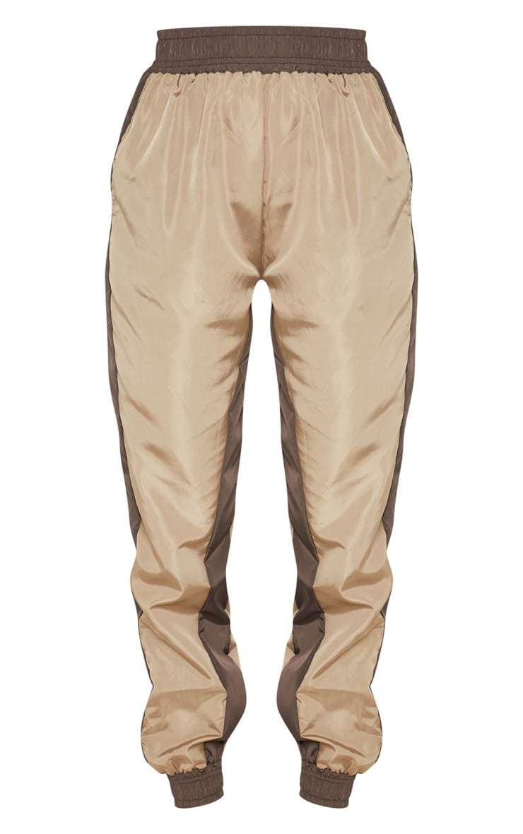 Taupe Contrast Panel Shell Jogger 3