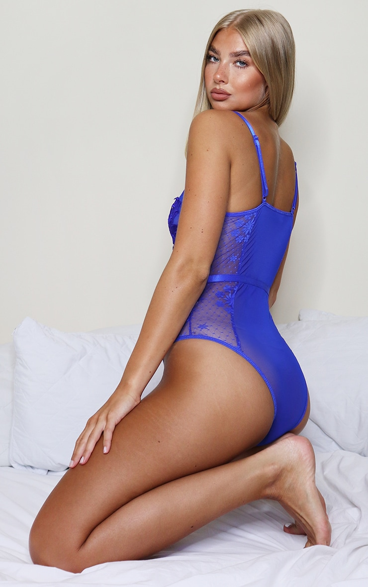 Cobalt Lace Applique Mesh Body 2