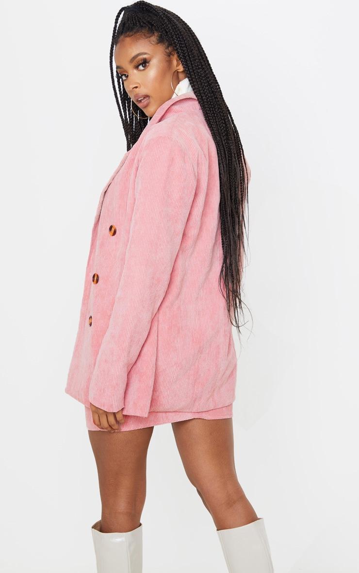 Pink Cord Oversized Boyfriend Blazer 2