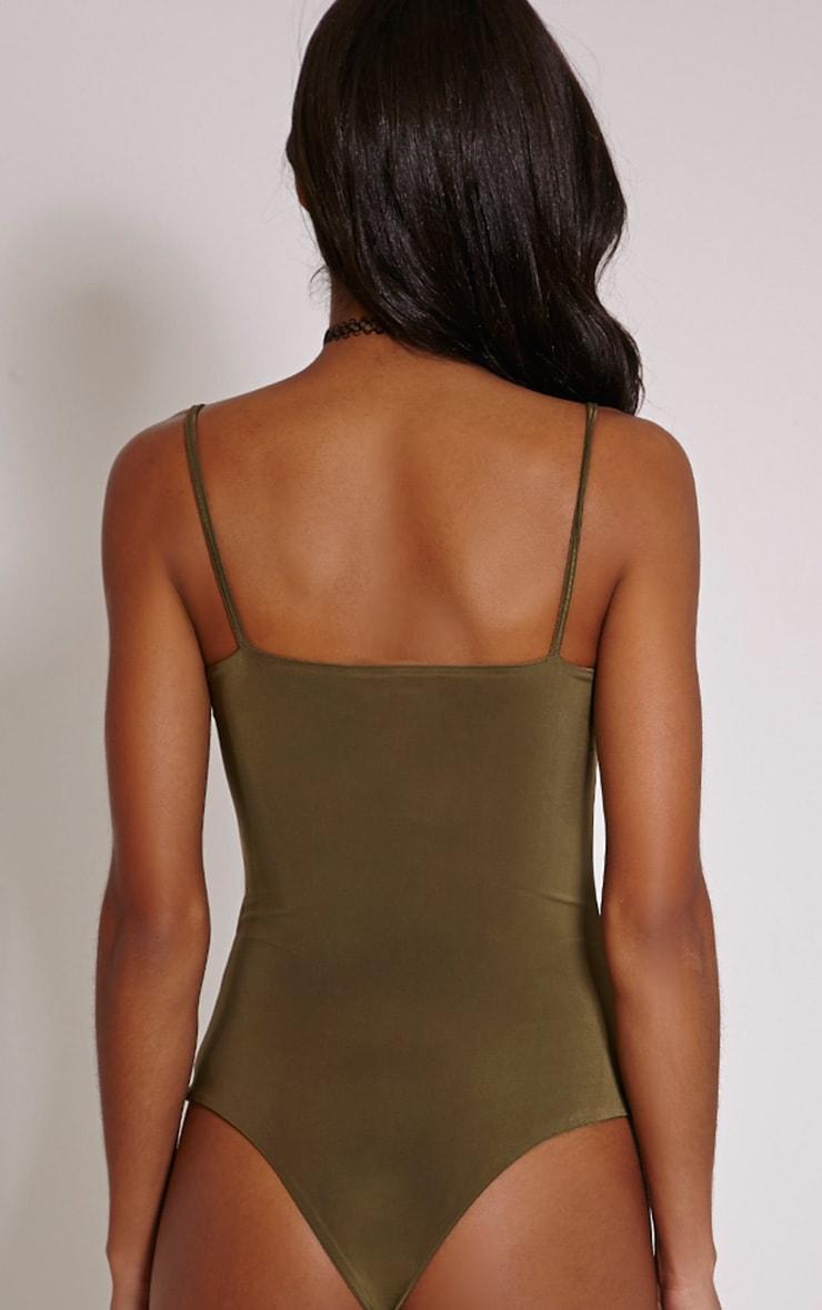 Kiya Khaki Strap Detail Bodysuit 6
