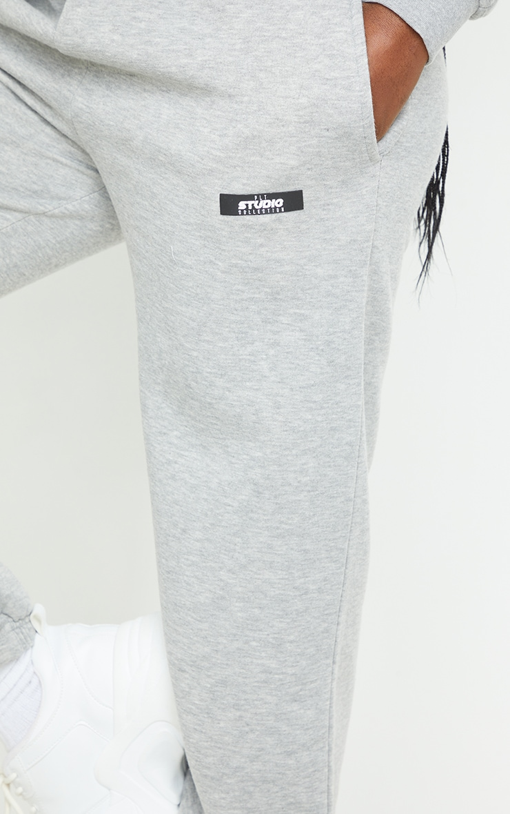 PRETTYLITTLETHING Tall Grey Studio Oversized Joggers 4
