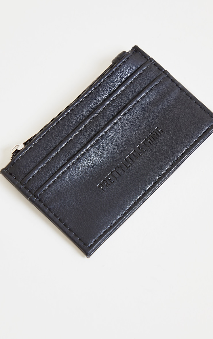 PRETTYLITTLETHING Black Card Holder 1
