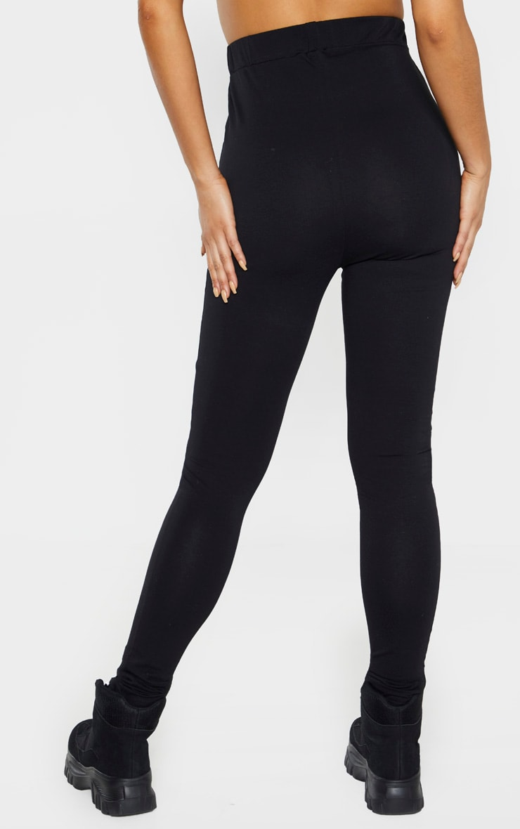 PRETTYLITTLETHING Tall Black Taping Legging  4