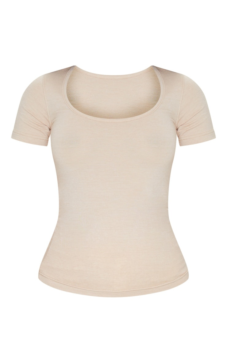 Nude Basic Fitted Scoop Neck T Shirt 5