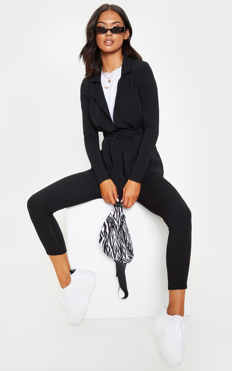 Black Straight Leg Suit Pants 1