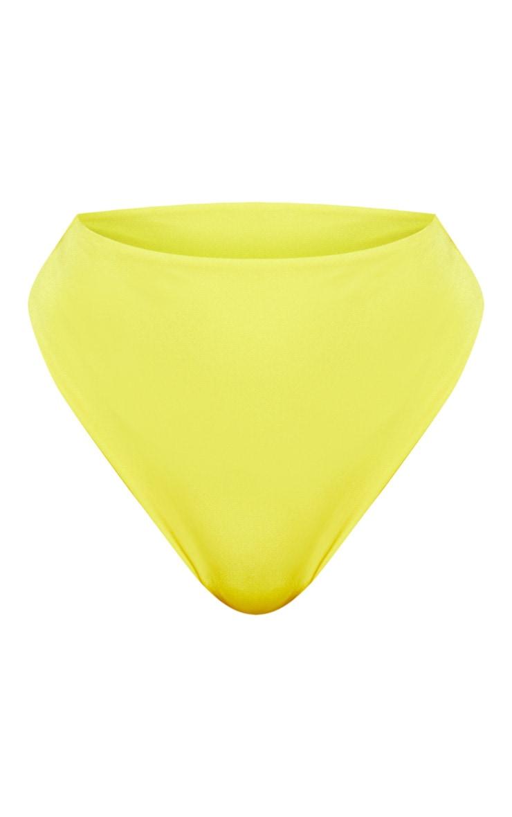 Yellow Mix & Match High Waisted High Leg Bikini Bottom 3