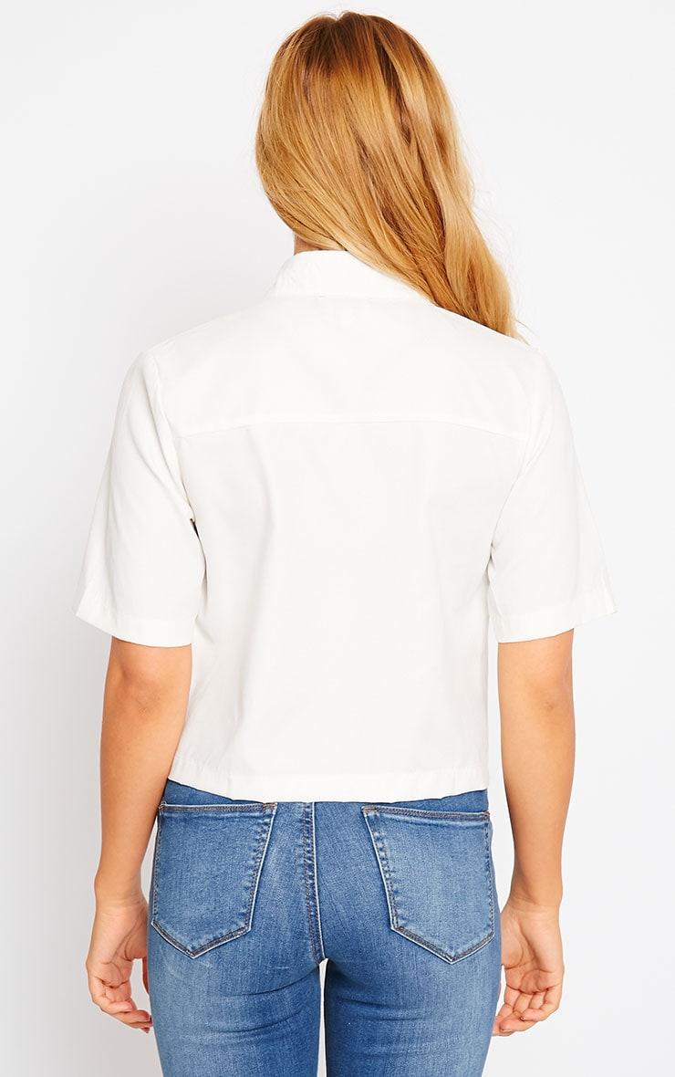 Brona Cream Crop Utility Shirt 2